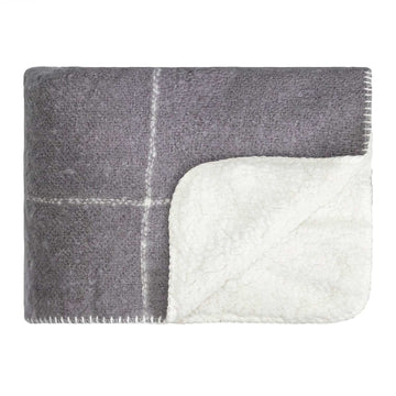 Sherpa Blanket Kerridge Grey