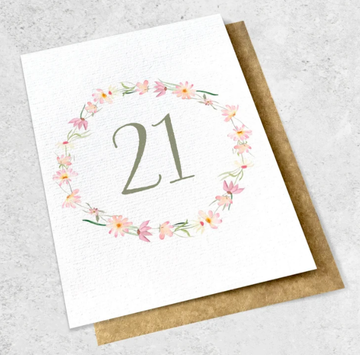 ink bomb 21st card | shelf home and gifts