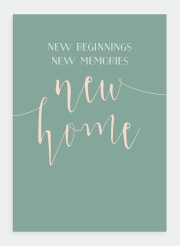 Poppy Card - New Home | Shelf home and gifts