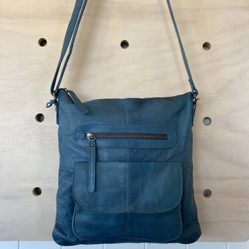 Leather Bag - Carolina Midnight Blue