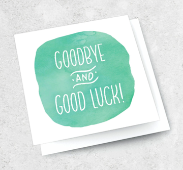 Ink Bomb Card - Goodbye Goodluck | Shelf Home and Gifts