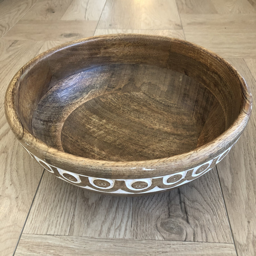 Patterned Wooden Bowls  stoneleigh and Robertson | shelf home and gifts