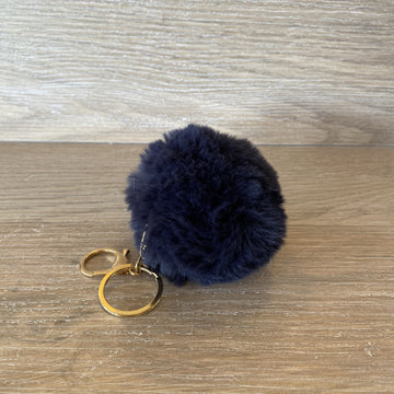 fluffy Keyring - Navy Blue