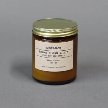 Amberjack Candle - Brown Sugar and Fig | Shelf Home and Gifts