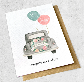 Ink Bomb Card Large - Happy Ever After | shelf home and gifts