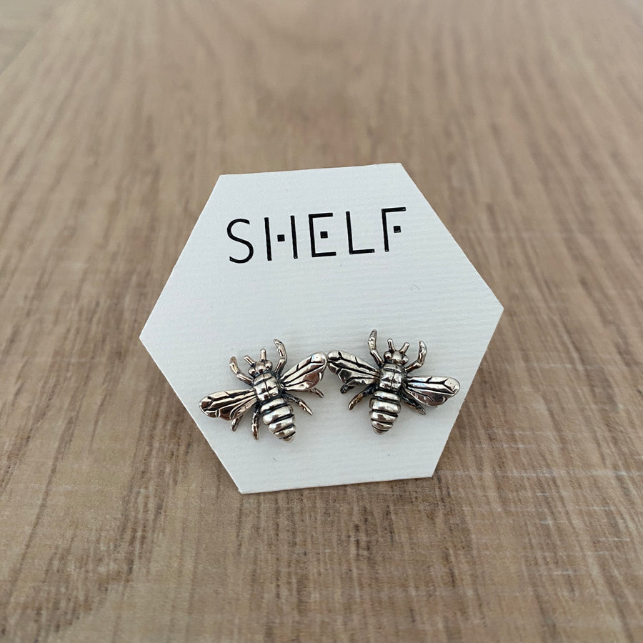 Sterling Silver Ear-rings - Bee Studs