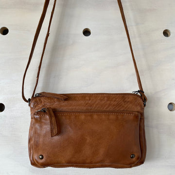 Leather Bag - Eliana Tan Cognac