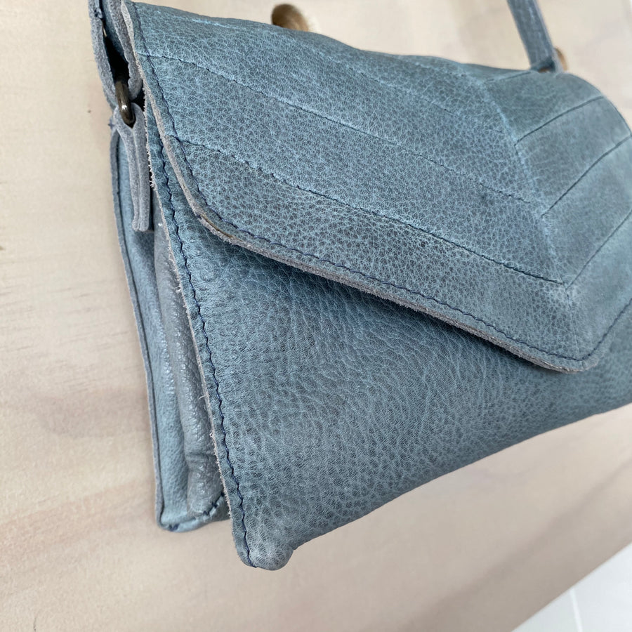 Leather Bag - Olivia Steel Grey