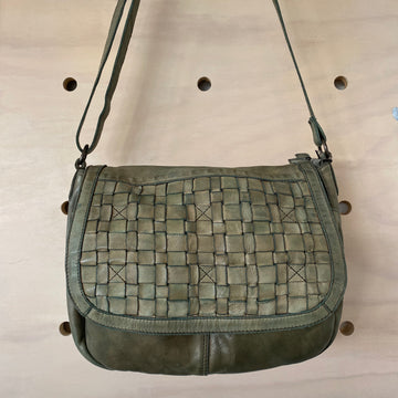 Leather Bag Bronte Clay Green