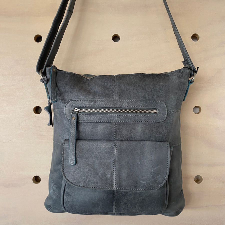 Leather Bag - Carolina Steel Grey