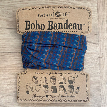 Bandeau - Blue with Pattern