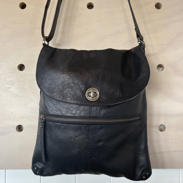 LEATHER BLACK RUGGED HIDE BIANCA