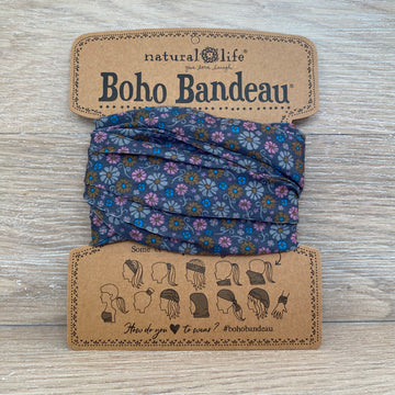 bandeau dark grey floral