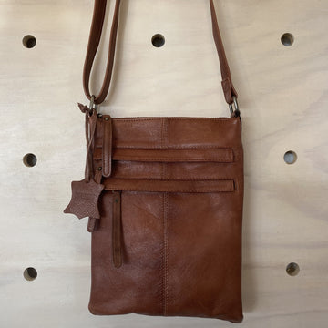 Leather bag Wendy brown