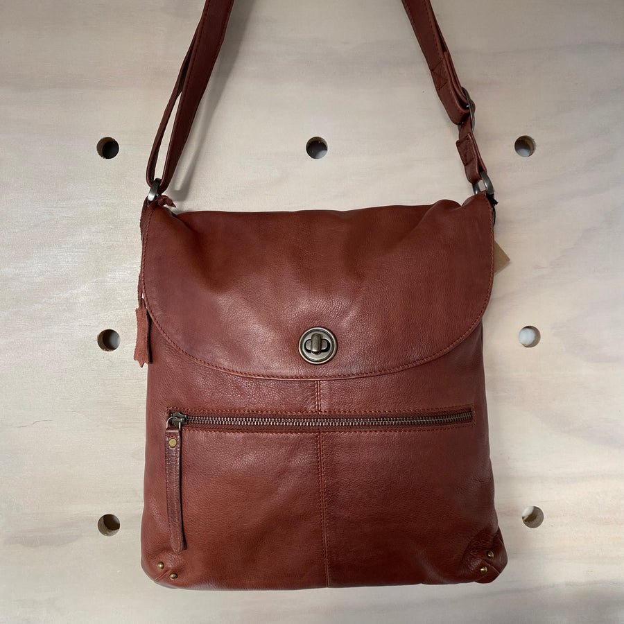 Leather Bag Bianca - Brown