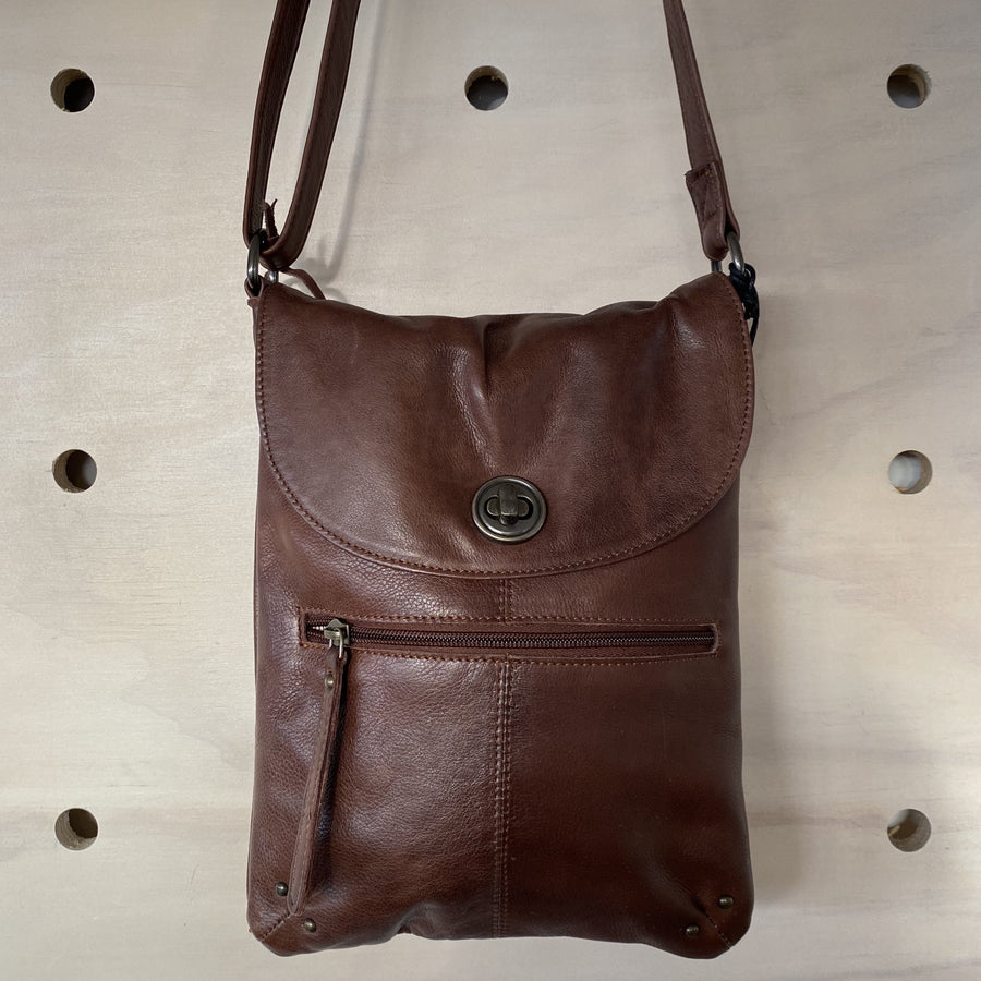 leather brown tayla bag
