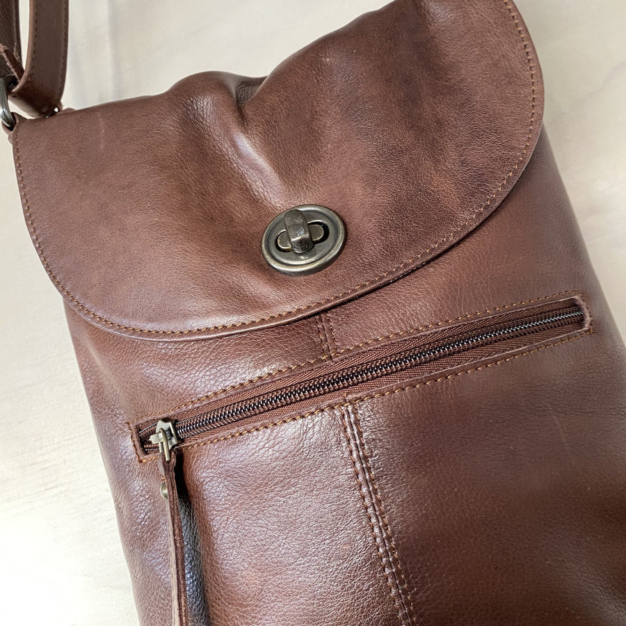 leather bag tayla brown