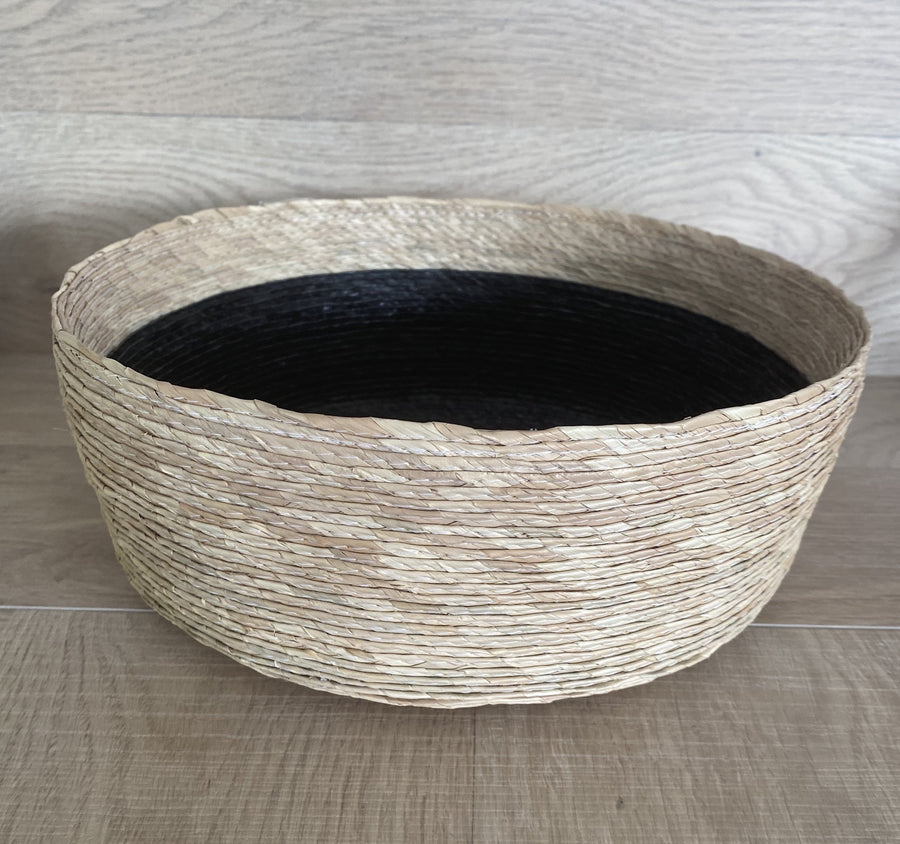 Natural Basket with Black Insert