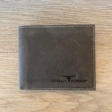 Leather Wallet - Brown Urban Forest