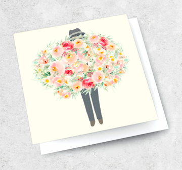 Ink Bomb Card - Mr Big Flowers | Shelf Home and Gifts