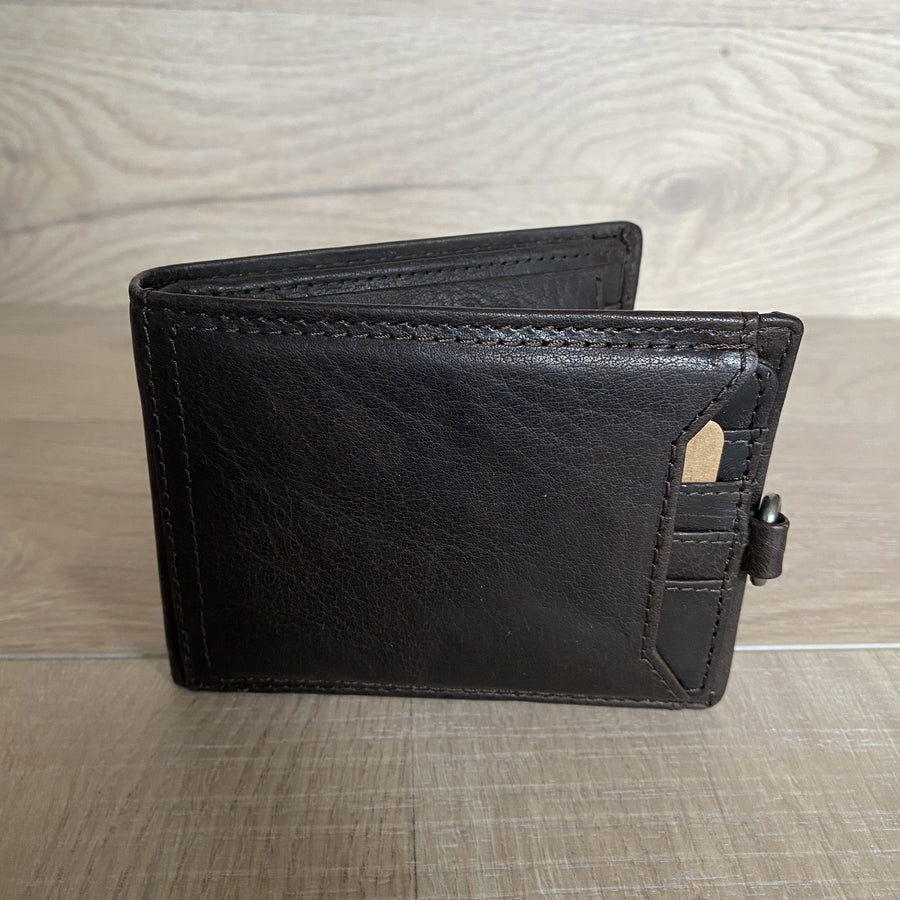 Leather Wallet - Ami Brown