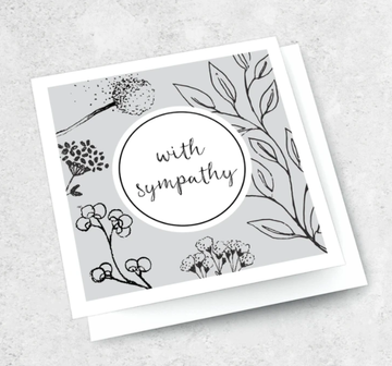 Ink Bomb Card - With Sympathy | Shelf Home and Gifts
