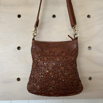 Leather Bag - Nicole Cognac