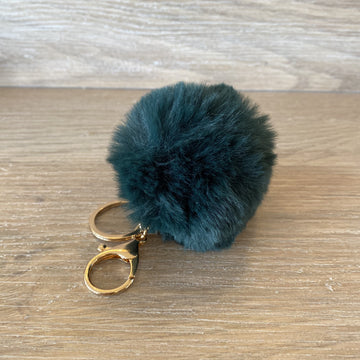 Fluffy Keyring -Dark Green