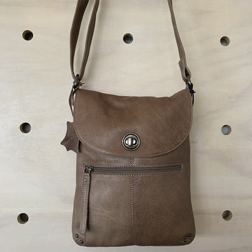 Leather Bag - Tayla Latte