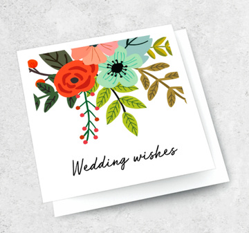 Ink Bomb Card - Wedding Wishes | Shelf Home and Gifts