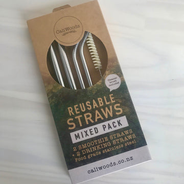 Reusable Straws Mixed Pack - Stainless Steel