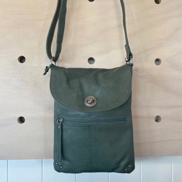 Leather Bag - Tayla Graphite rugged hide