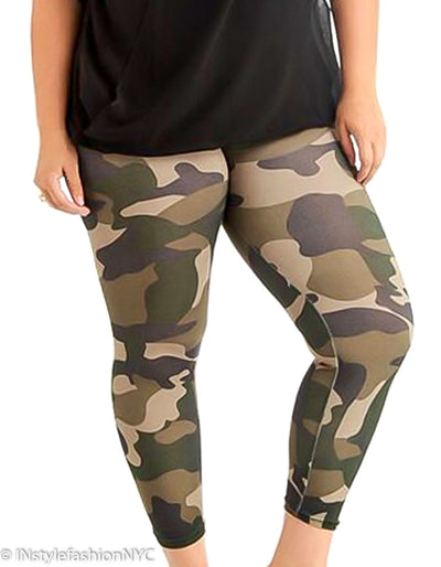Women's Camouflage Plus Size Leggings, INstyle fashion