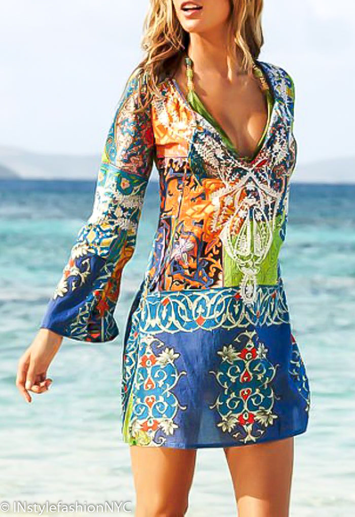 Women's Colorful Pull Over Cover Up, INstyle fashion