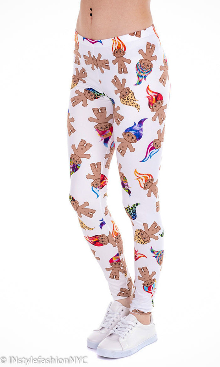 Women's Troll Characters Fashion Leggings, INstyle fashion