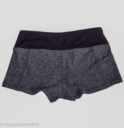Women's Gray And Black Fitness Shorts, INstyle fashion
