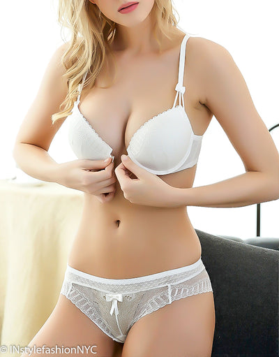 Women's White Bra And Sheer Panty, INstyle fashion