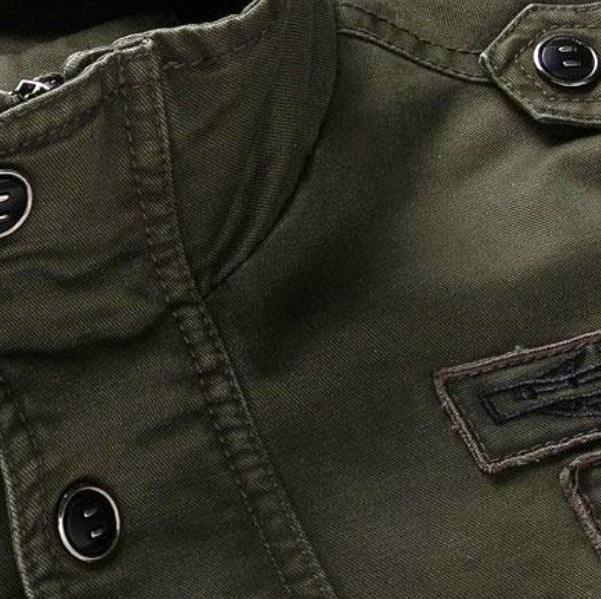 Men's Green Air Force Jacket With Fur Lining, INstyle fashion