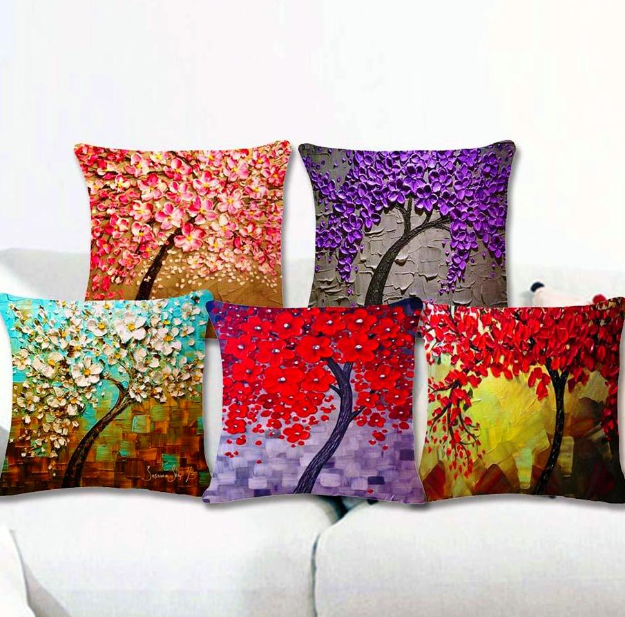 INstyle Floral Blossom Tree Pillow Cases Home Decor
