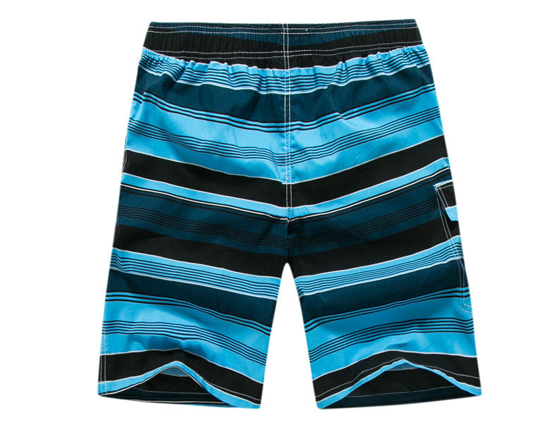 Men's Blue Multi Striped Swimwear, INstyle fashion