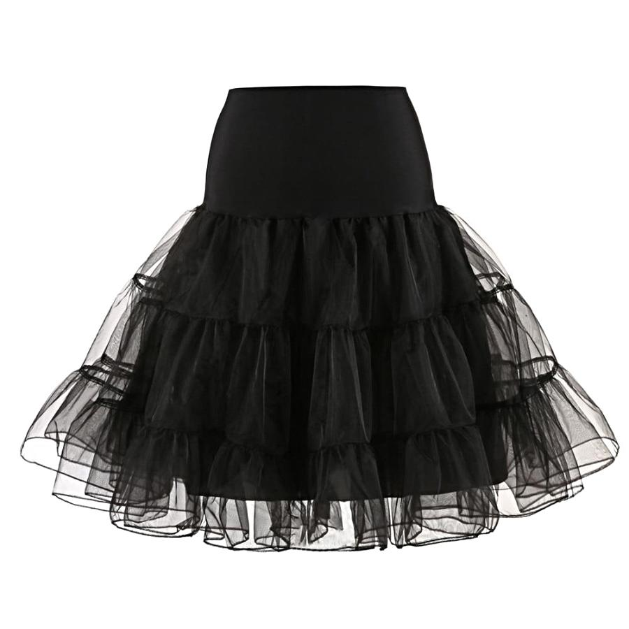 Women's Black Multi Layer Tulle Petticoat, INstyle fashion