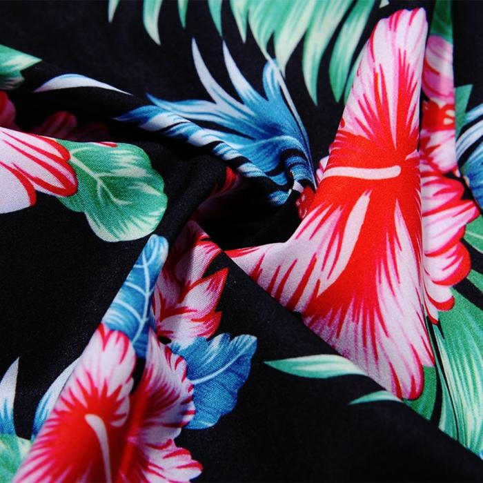 Women's Tropical Hibiscus Vintage 50s Dress, INstyle fashion