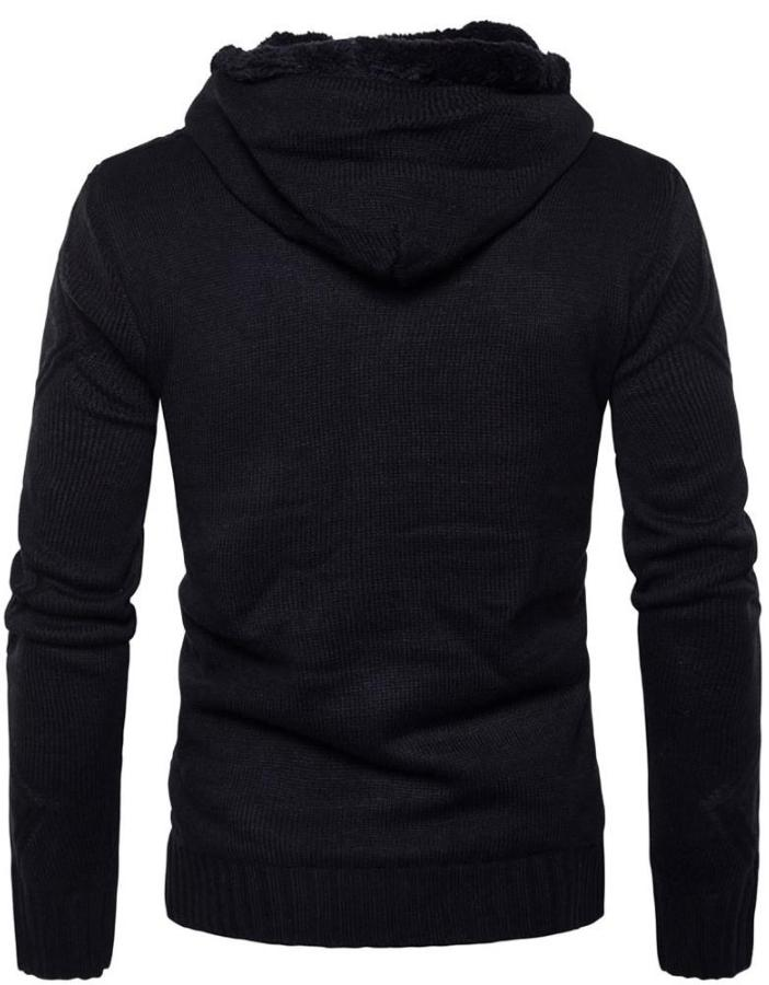 Men's Black Hooded Jacket With Toggles, INstyle fashion
