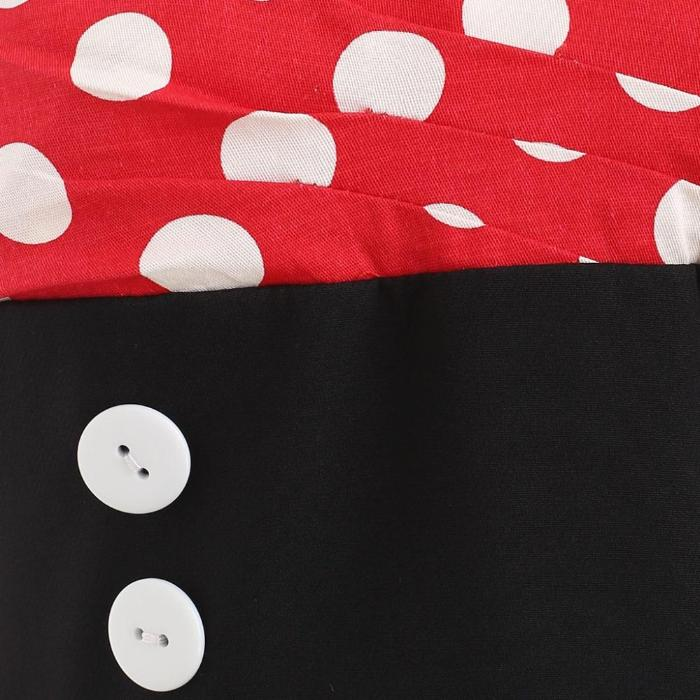 Women's Red And Black Minnie Mouse Vintage Dress, INstyle fashion