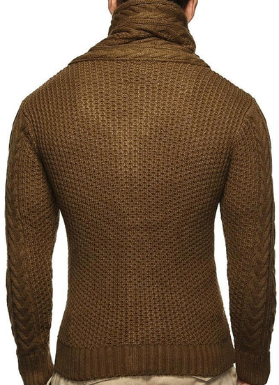 Mens Brown Shawl Turtleneck Sweater Instyle Fashion Instyle