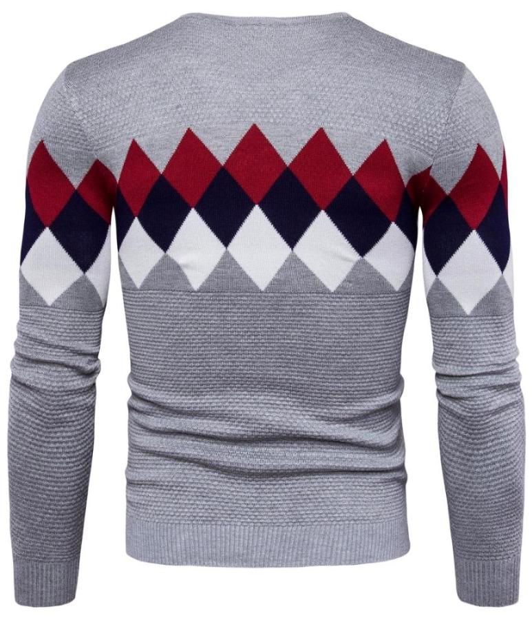 Men's Gray Diamond Sweater, INstyle fashion
