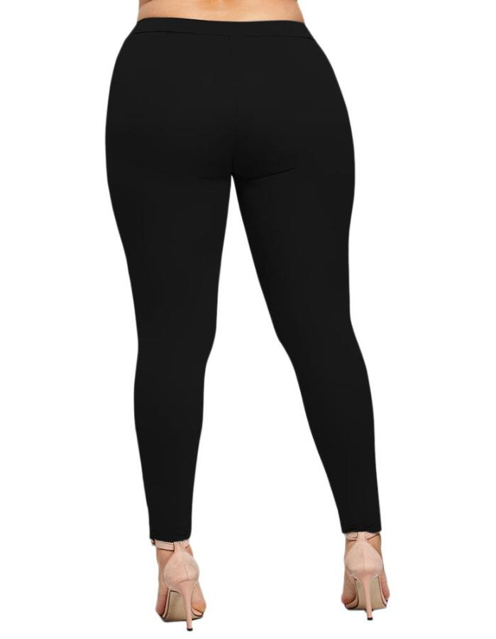 Women's Black Stretch Plus Size Leggings, INstyle fashion