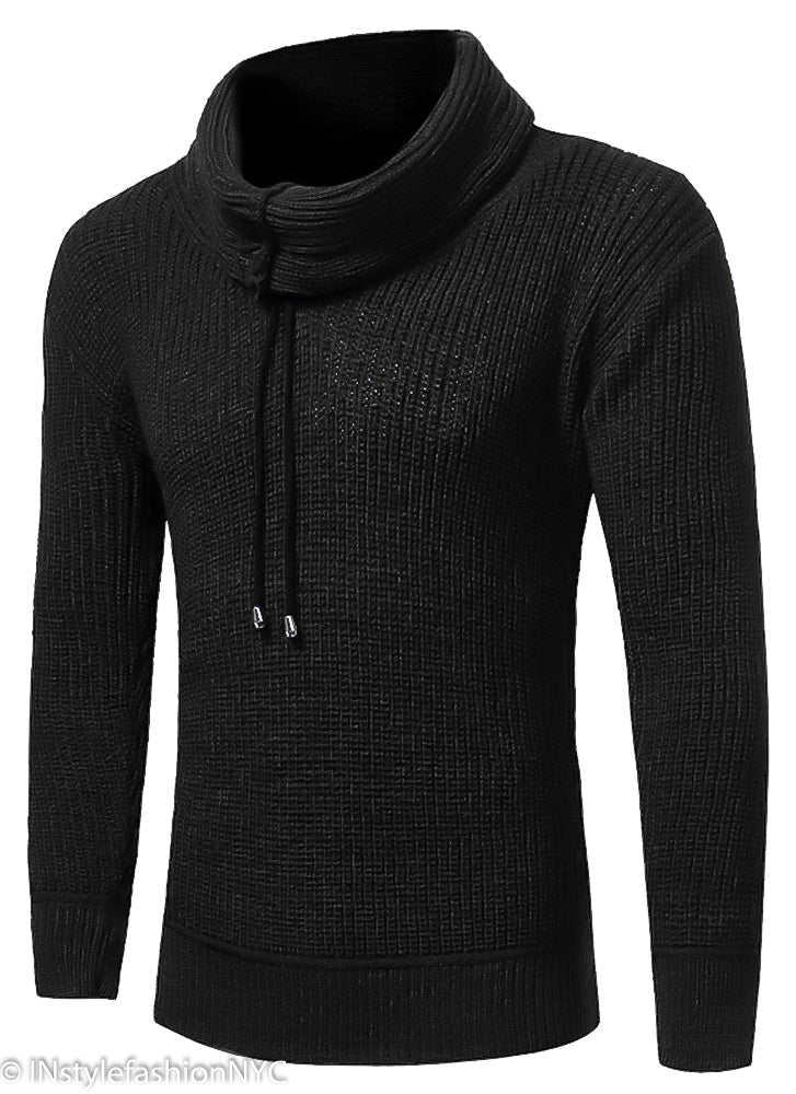 c5df9c6c40e2c Men's Black Turtleneck Pullover Sweater, INstyle fashion - INstyle ...