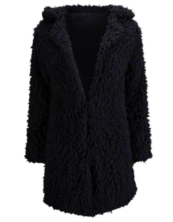 Women_Black_Teddy_Bear_Faux_Fur_Coat