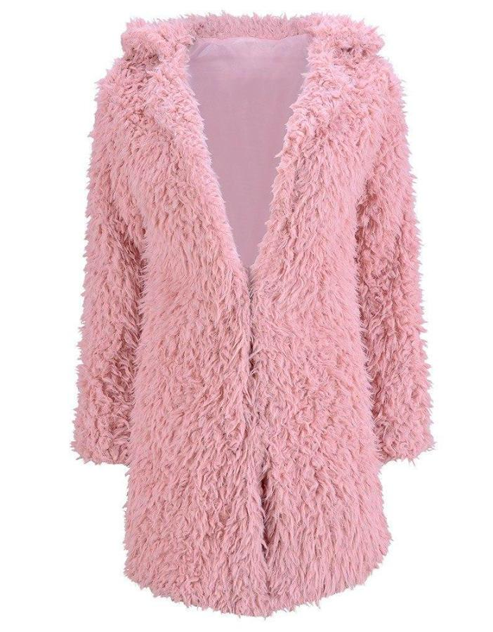 Women_Pink_Teddy_Bear_Faux_Fur_Coat
